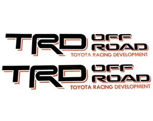 Trd Decals Vinyl Stickers 1 Pair Black Red Graphics For Toyota Tundra Tacoma
