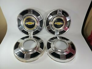 1969 1975 Chevy 4x4 Truck 12 Dog Dish Poverty Hubcaps Wheel Covers Vintage