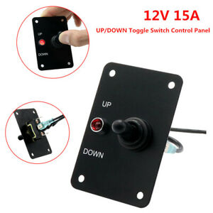12v 15a Anchor Winch Windlass Up down Toggle Switch Control Panel W Led Light