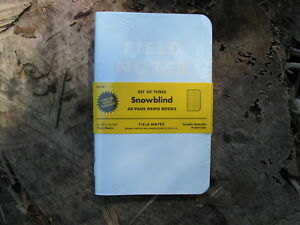 Field Notes Snowblind Memo Books Set Of 3 Limited Edition Sold Out Free Shipping