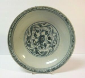 Chinese Qing Dynasty Kangxi Celadon Blue White Porcelain 12 5 Bowl