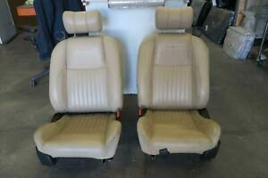 2003 2005 Ford Thunderbird Front Seat Set Bucket Airbag Leather 6 Way Oem 2004