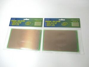 Velleman ecs1 h 3 9 X 6 3 Eurocard Printed Circuit Project Boards Lot Of 2