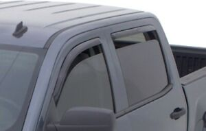 Avs 194528 In channel Vent Visor Rain Guards Fits Silverado Sierra Double Cab