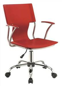 Contemporary Upholstered Office Chair In Red id 3756217