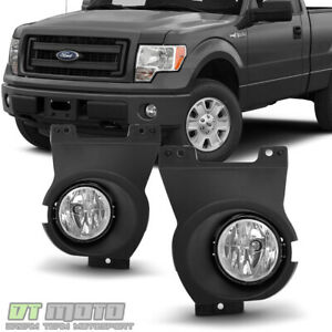 2011 2014 Ford F150 F 150 Bumper Fog Lights Driving Lamps W switch bracket bulbs