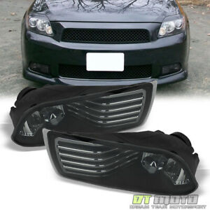 Smoked 05 10 Scion Tc Bumper Driving Fog Lights Lamps switch Bulbs Left right