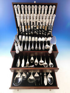 Georgian By Towle Sterling Silver Flatware Set For 12 Service 158 Pcs Dinner