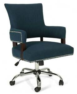Bonaparte Home Office Chair In Navy Blue And Chrome id 3843616