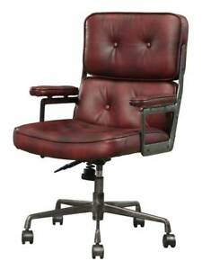Executive Arm Office Chair In Vintage Merlot Finish id 3868599