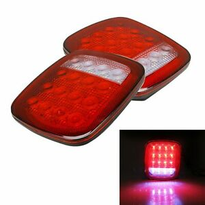 Led Tail Light Rear Light Brake Reverse Turn Signal For Jeep Wrangler Tj Cj Yj