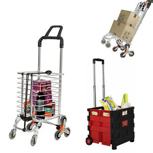Utility Shopping Carts Wheeled Rolling For Laundry Luggage Grocery Heavy Duty