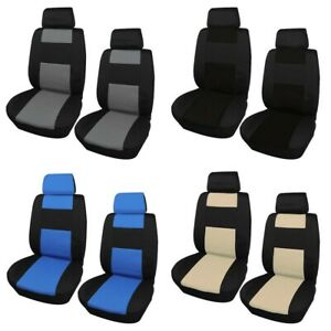 Breathable 2 Front Car Seat Cover 2 Head Rests Cover Universal Auto Protector