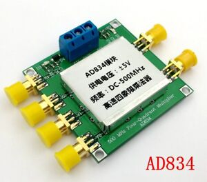 Ad834 Dc 500mhz 4 quadrant Multiplier Module Frequency Mixing broadband Modem