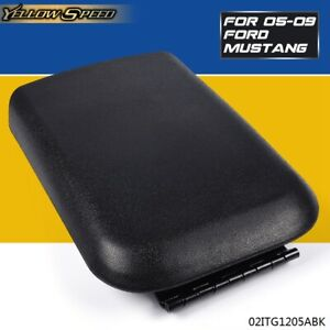 Center Console Arm Rest Lid Top Pad Cover Compartment Door For Ford Mustang