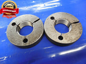 1 1 2 12 Unf 2a Vermont Thread Ring Gages 1 5 Go No Go P d s 1 4440 1 4376