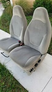 2001 Ford Expedition Power Front Bucket Seats Tan Cloth F150