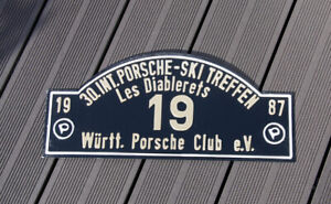 Vintage Car Club Rallye Sign Porsche Ski Meeting Les Diablerets 1987 Wac 19