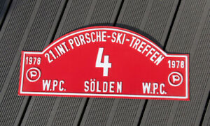 Vintage Car Club Rallye Sign Int Porsche Ski Meeting S lden 1978 Austria Wpc