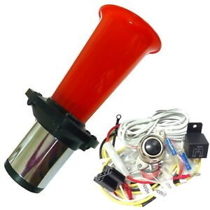 Car Horn Ooga Easy Install Kit Button Air Lunch Truck Van Boat Classic Hot Rod