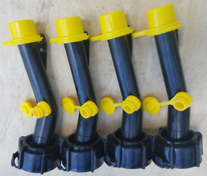 4 Blitz Gas Can Spouts Base Caps Replacement Gas Can Spouts With Vents