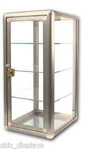 Glass Display Case With Key Bronze Countertop Case Showcase Fixture Boutique