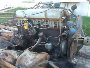 1956 Chevy 235 L6 Straight 6 Cylinder Engine W 3 Speed Manual Transmission 55