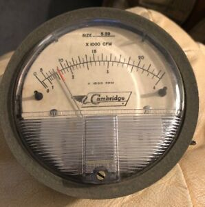 Dwyer Cambridge Magnehelic Gauge 0 25 Cfm 0 4 Fpm X1000