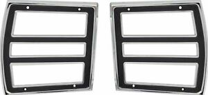 Oer Reproduction Tail Lamp Bezel Set 1968 Dodge Dart