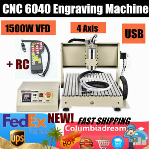 6040 Cnc Router 4axis Engraver Machine Pvc Wood Engraving Advertising Sign 1 5kw