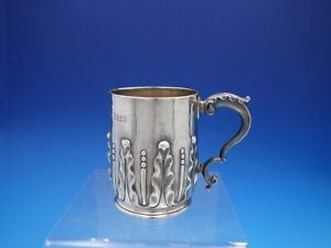 Victorian English Sterling Silver Acanthus Leaf Child S Cup Or Mug 4203