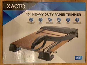 X acto 15 Heavy Duty Paper Trimmer Wood Base New Open Box