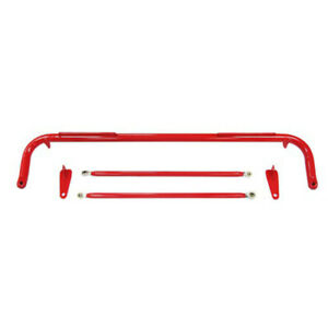 Universal Harness Bar Stainless Steel Racing Safety Seat Belt red