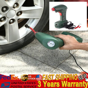 12v Air Automatic Tire Inflator Portable Air Compressor Car Power Cable Hose