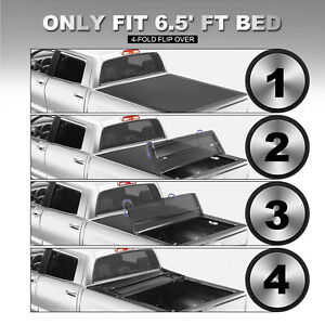 Tonneau Cover For 2014 2019 Toyota Tundra 6 5ft Bed Truck Models Only 4 fold