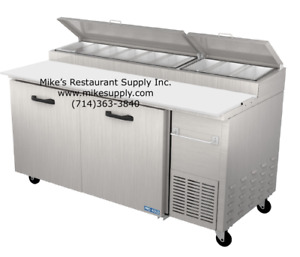 New 67 Refrigerated Pizza Prep Table Cold Nsf 2 Door Pro kold Ppt 67 11 3216