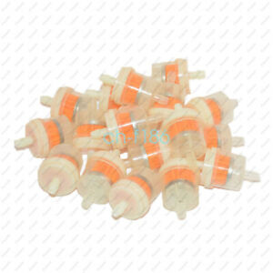 10pcs Motor Inline Gas Oil Fuel Filter Small Engine For 1 4 6 7 Mm Line Hot