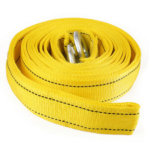 20ft 17000lbs Thicken Heavy Duty Recovery Tow Strap With Hooks Towing Recovery