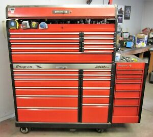 Snap On Roller Cabinet 2000 Series Full Of Tools Mostly Snap On