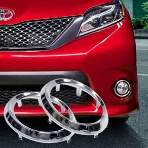 Fit 11 17 Toyota Sienna Se Left Right Fog Driving Light Lamp Chrome Trim Bezel