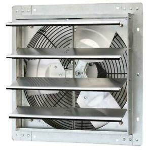 16 In Shutter Exhaust Fan Variable Speed 1280 Cfm Power Ventilation Cooling
