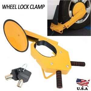 Wheel Tire Boot Lock Clamp Claw For Car Rv Suv Boat Truck Trailer Anti Theft Us