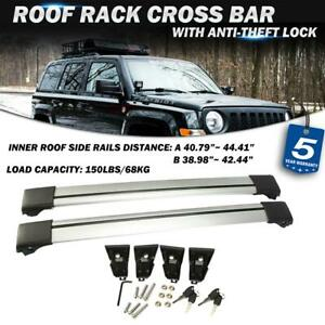 Pair Roof Rack Cross Bar Aluminum Cargo Carrier Rails For 2007 2015 Jeep Patriot