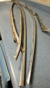 1959 Cadillac 4 Door 6 Window Roof Gutter Trim Moulding Set