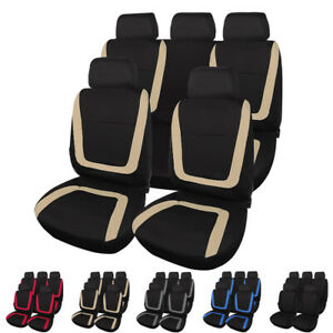 Breathable Front Rear Car Seat Covers Headrest For Truck Suv Car Accessories