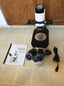 Fisher Sci Microscope Micromaster Inverted Phase Contrast 5x 10xph 20xph Corr