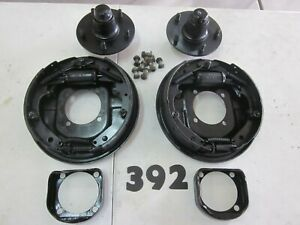 1953 1956 Ford F 100 Front Hydraulic Brake Hubs Backing Plates