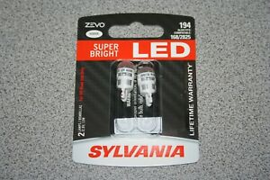 Sylvania Zevo Led 194 Pair Set Led Lamps Bulbs 168 2825 New