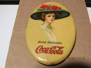 COCA COLA 1911 POCKET MIRROR WHITEHEAD & HOAG -108 YEARS OLD