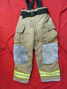 Mfg 2013 Globe Gxtreme 36 X 32 Firefighter Turnout Bunker Pants Suspenders